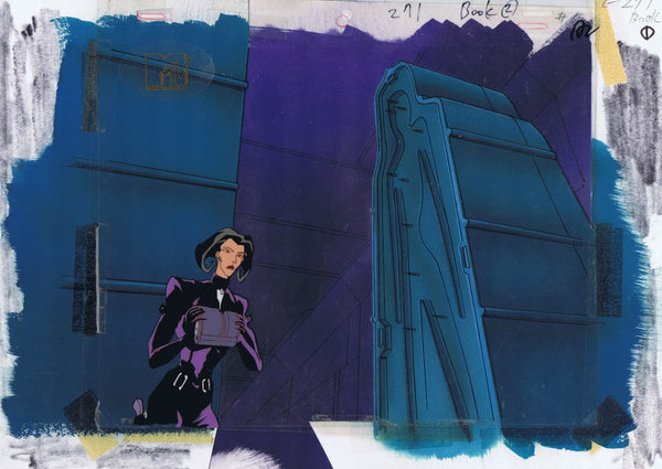 AEON FLUX ORIGINAL 1990'S PRODUCTION CEL MTV LIQUID TELEVISION - TOMB - The Cricket Gallery