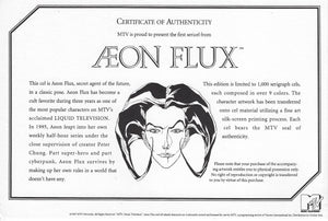 AEON FLUX Limited Edition Silkscreen Animation Art Cel Cell MTV Seal COA Sericel - The Cricket Gallery
