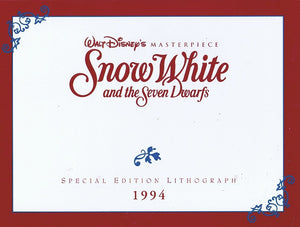 Snow White & The Seven Dwarfs Limited Edition Lithograph Disney Animation Art 1994 - The Cricket Gallery