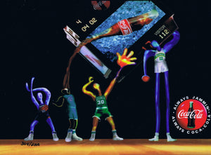 "Coca Cola 1990's Lithocel Limited Edition Rare Always Jammin"" NBA - The Cricket Gallery"