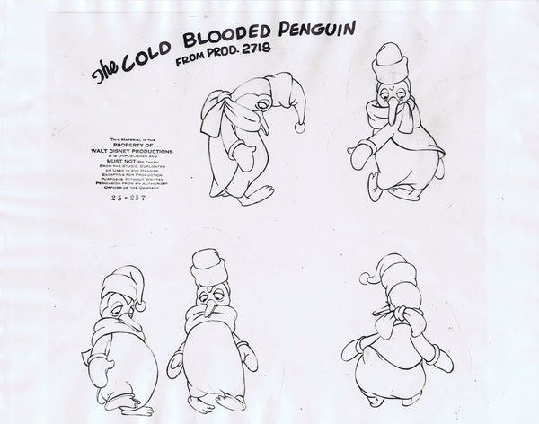 Three Cabelleros Original Animation Cel Model Sheet 1945 Walt Disney - The Cricket Gallery