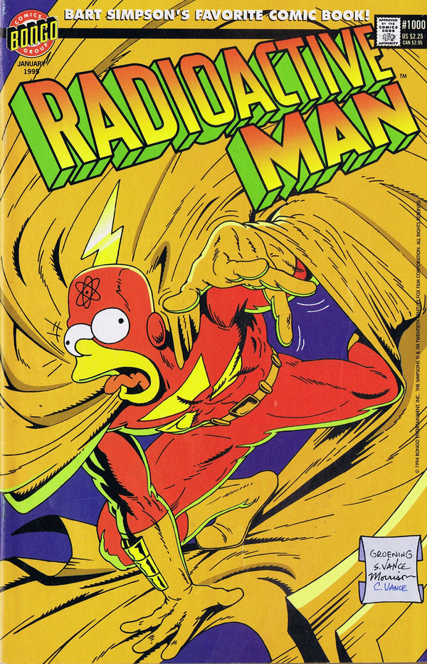 RADIOACTIVE MAN #1000 IN HIS OWN IMAGE - SIMPSONS COMICS - The Cricket Gallery