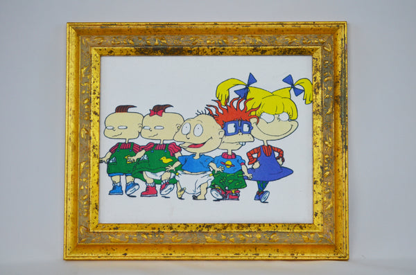 Limited Edition 1990's Rugrats Framed Canvas Print 5 Characters - The Cricket Gallery