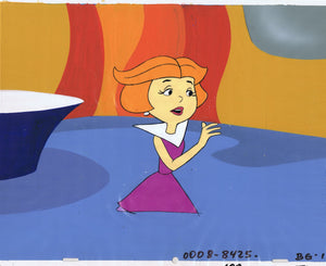 THE JETSONS ORIGINAL PRODUCTION CEL 1980'S HAND PAINTED FILMATION HANNA-BARBERA - JANE JETSON - The Cricket Gallery