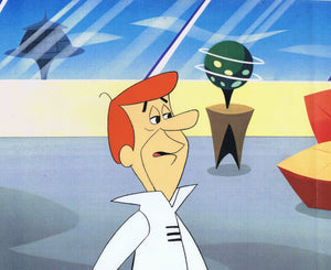 THE JETSONS ORIGINAL PRODUCTION CEL 1980'S HAND PAINTED FILMATION HANNA-BARBERA - GEORGE JETSON - The Cricket Gallery