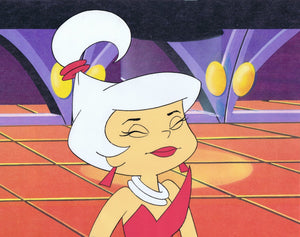 THE JETSONS ORIGINAL PRODUCTION CEL 1980'S HAND PAINTED FILMATION HANNA-BARBERA - JUDY JETSON - The Cricket Gallery
