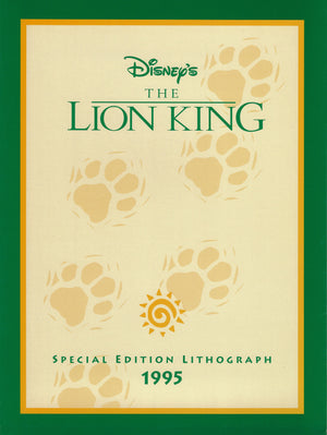 LION KING Limited Edition Lithograph Walt Disney Animation Art Simb, Timon & Pumba