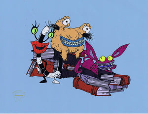 Aaahh!!! Real Monsters Limited Edition Sericel 1990's Animation Art Silkscreen Cel