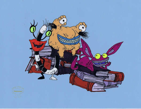 Aaahh!!! Real Monsters Limited Edition Sericel 1990's Animation Art Silkscreen Cel - The Cricket Gallery