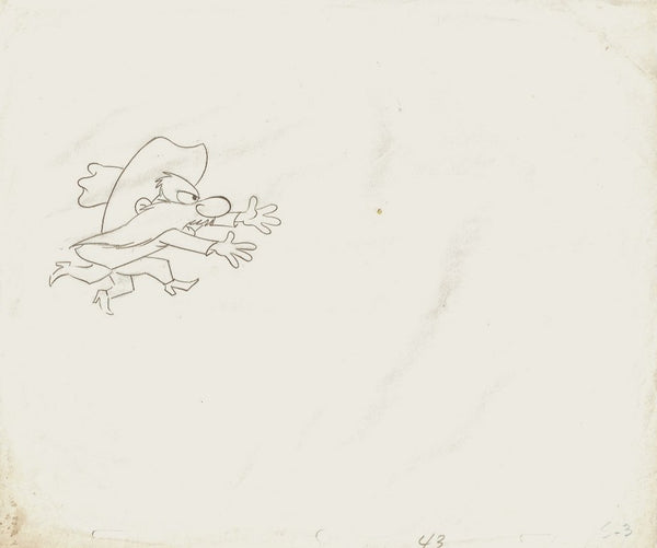 Yosemite Sam Production Production Cel Drawing Animation Art Warner Bros. - The Cricket Gallery