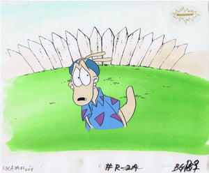 ROCKO'S MODERN LIFE ORIGINAL 1990'S PAINTED PRODUCTION CEL HELMET - The Cricket Gallery