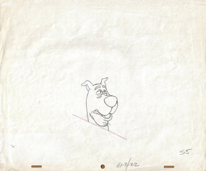 SCOOBY-DOO ANIMATION PRODUCTION DRAWING