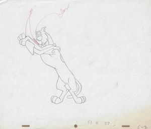 Scooby Doo Original Animation Production Drawing - The Cricket Gallery