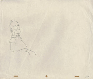 Simpsons Animation Production Drawing Homer Simpson - The Cricket Gallery