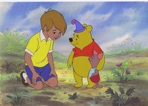 "Winnie The Pooh Walt Disney Hand Painted Limited Edition Cel ""Two Hero Party"" - The Cricket Gallery"