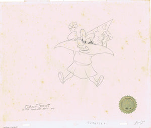 Yosemite Sam Production Cel and Matching Drawing Warner Bros. SIGNED Chuck Jones - The Cricket Gallery