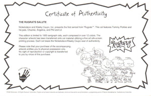 Rugrats Limited Edition Sericel Animation Art Nickelodeon Seal and COA 1990's - The Cricket Gallery