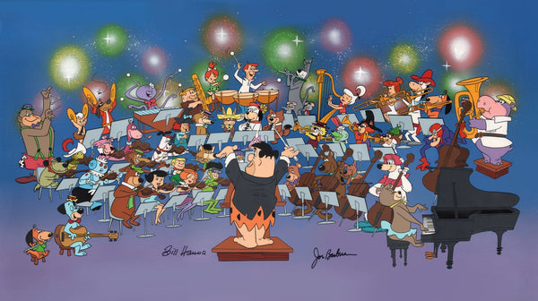 Hanna & Barbera - Symphony of the Stars - Signed, Hand Painted, Limited Edition Cel - The Cricket Gallery