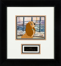 Lady and the Tramp Lady Original Production Cel Walt Disney 1955 Deluxe Frame - The Cricket Gallery