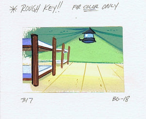 1990's Ren & Stimpy Original  Production Cel Cell Watercolor Background Eat My Cookies - The Cricket Gallery