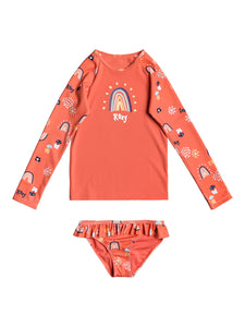 Rainbow And Sun Long Sleeve UPF 50 Rash Vest Tods