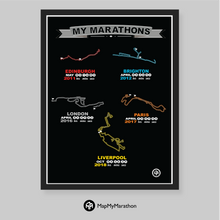 Multiple Marathon Map (Up to 5 marathons)