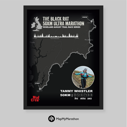 The Black Rat 50KM Personalised Map