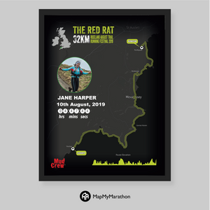 The Red Rat 32KM Personalised Map