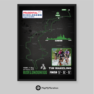 London Surrey Ride 100 Map