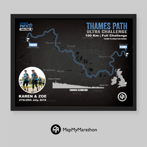 Thames Path Ultra Challenge - Full Route