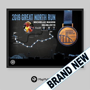 Great North Run Medal Frame