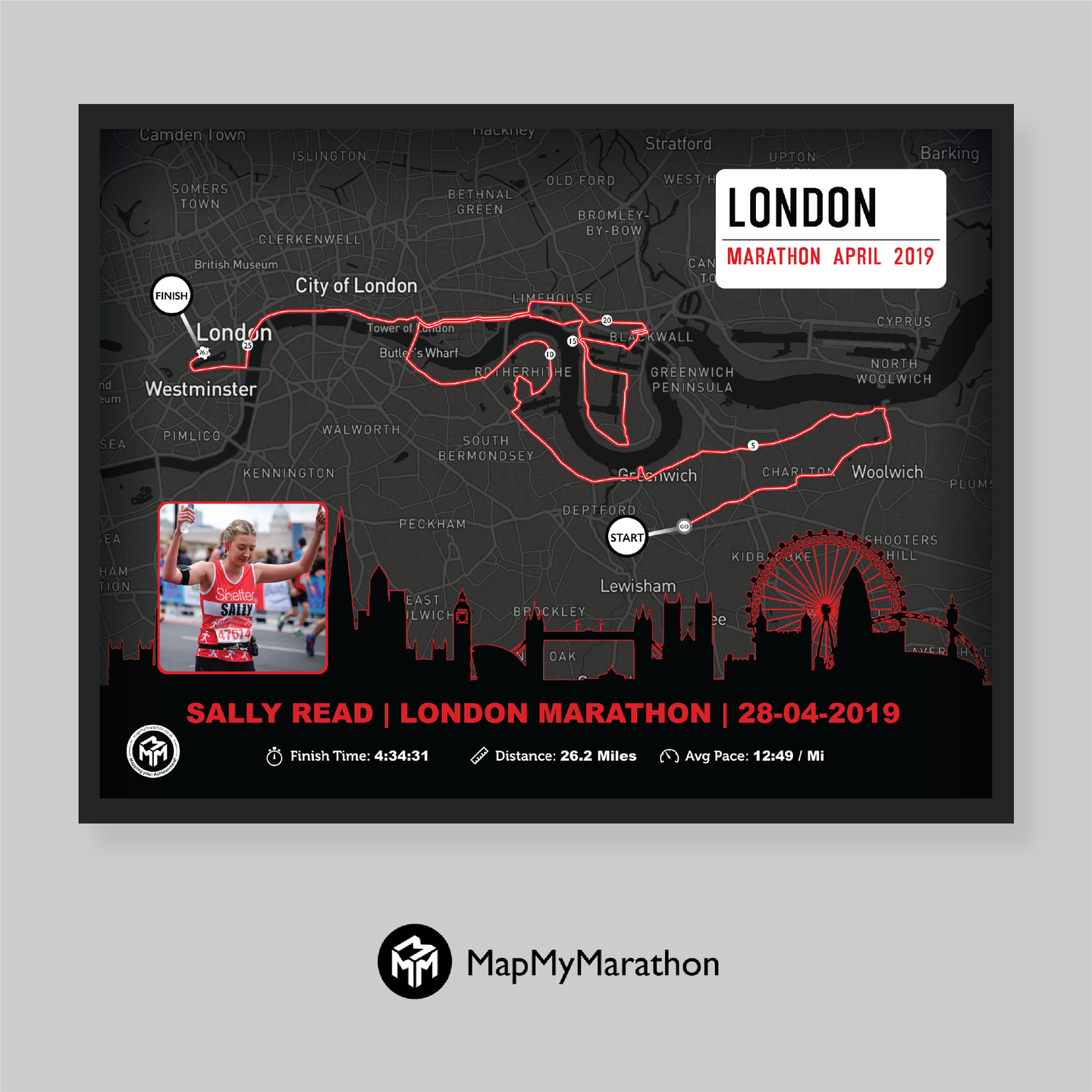 London Marathon Street Sign