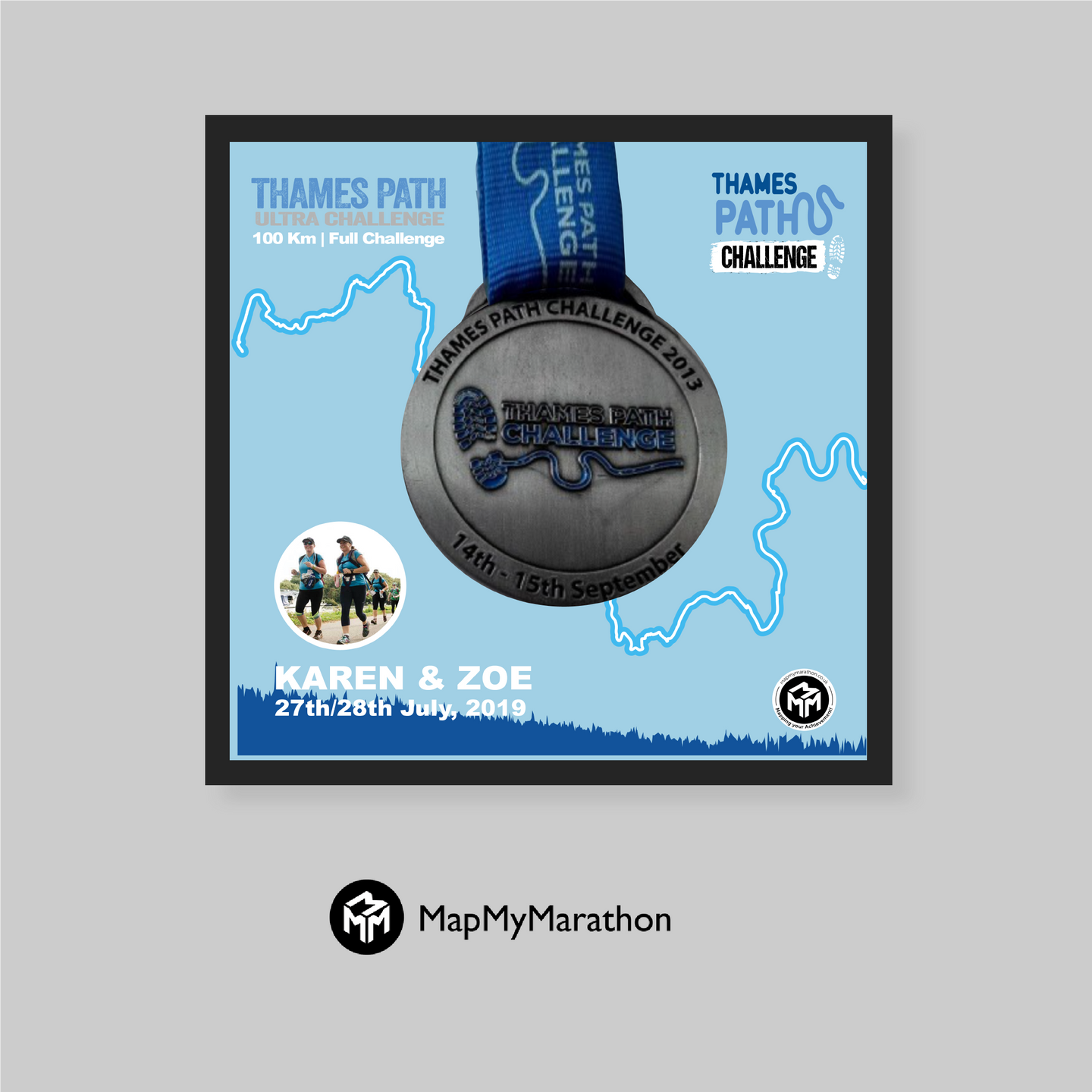 Thames Path Ultra Challenge - Medal Box