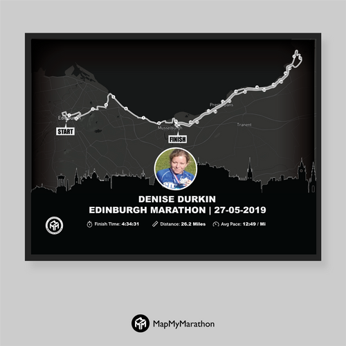 Edinburgh Marathon Map