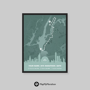 New York Marathon Map