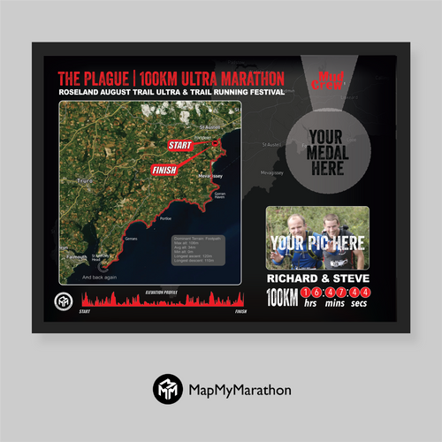 The Plague 100KM Medal Frame