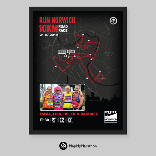 Run Norwich 10K Personalised Print