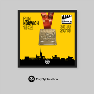 Run Norwich 10KM Medal Box
