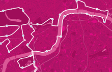 London MoonWalk Map