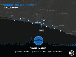 Brighton Half Marathon Map
