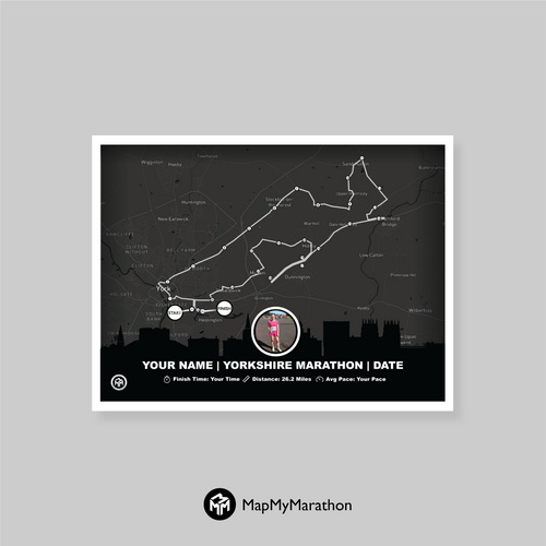 York Marathon Map