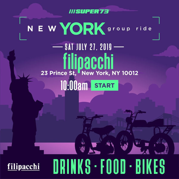 Super73 Group Ride: New York