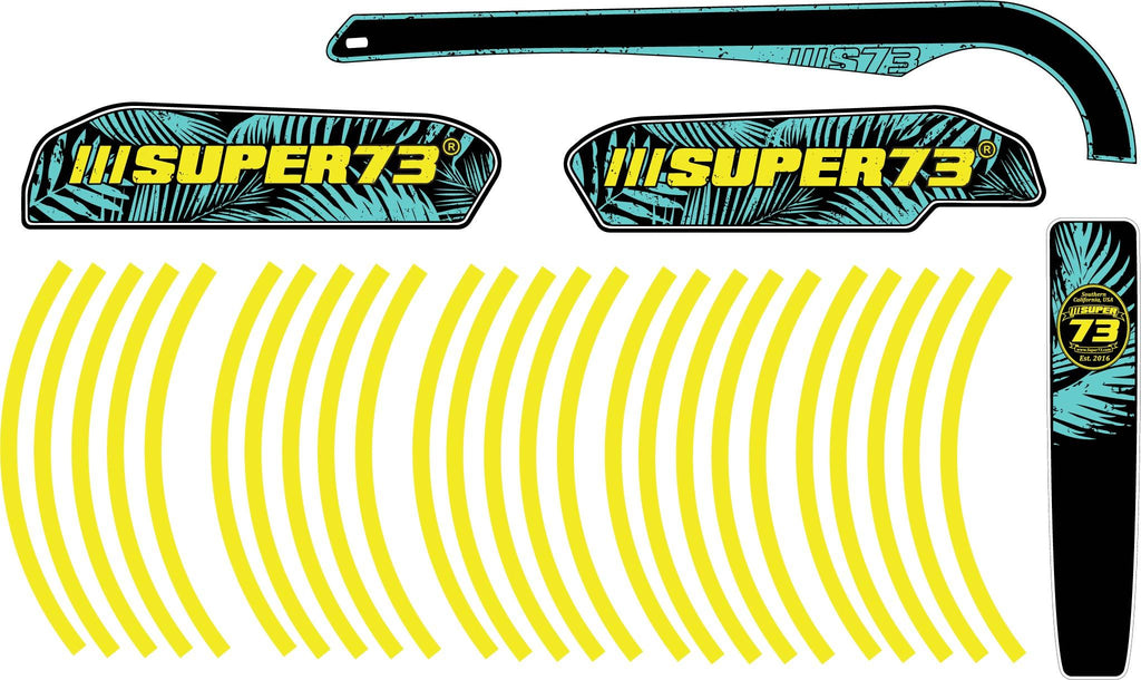 SUPER73-SG1 Neon Palms Decal Kit