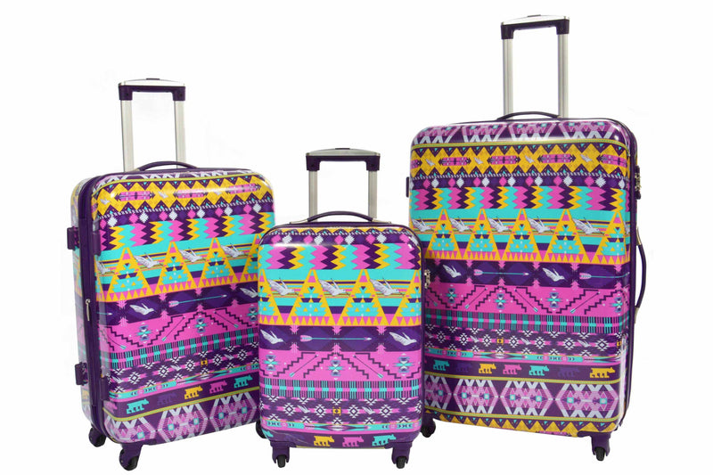 four wheel suitcase hard shell soft travel luggage