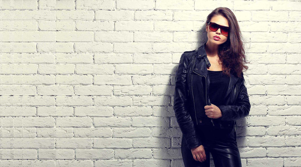 ladies biker bomber blazer classic leather jackets and coats