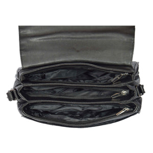 multiple zip compartment bag