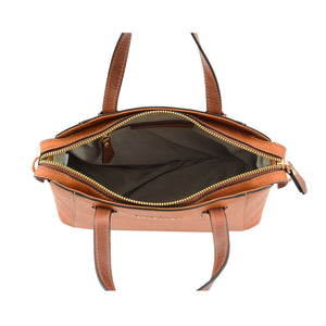 Womens Leather Small Tote Cross Body Bag Elsie Tan 6