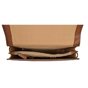 briefcase with middle zip divider