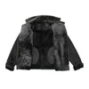 Womens Sheepskin Aviator Cross Zip Pilot Jacket Lena Black 6