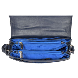 leather bags with middle zip dividers